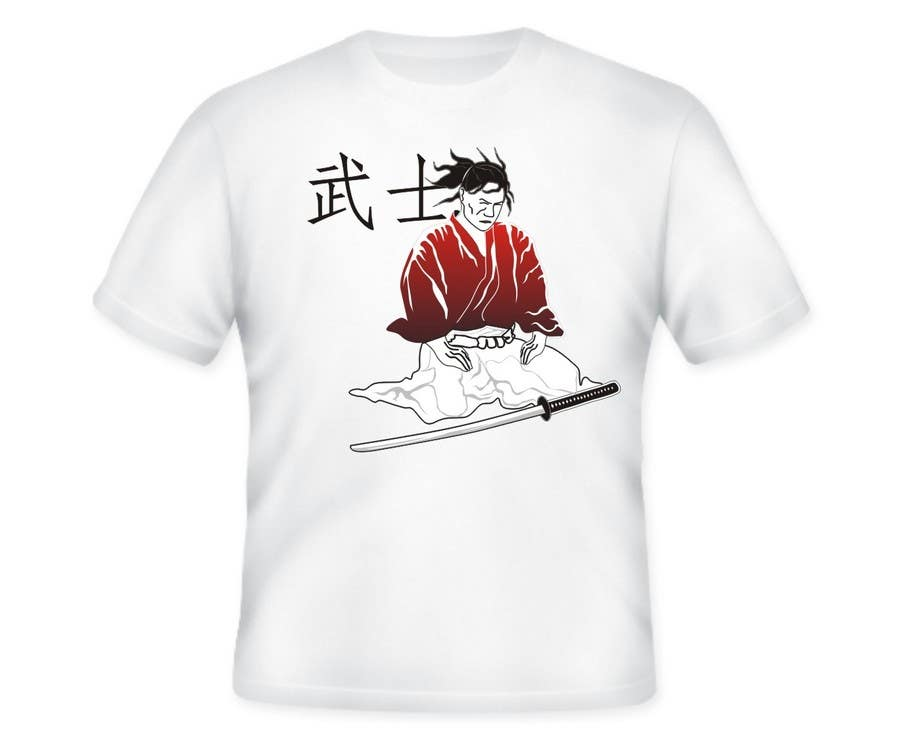 Contest Entry #                                        37                                      for                                         Samurai T-shirt Design for Cripplejitsu