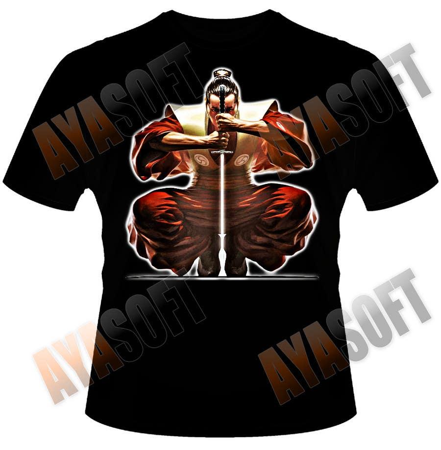 Contest Entry #                                        7                                      for                                         Samurai T-shirt Design for Cripplejitsu