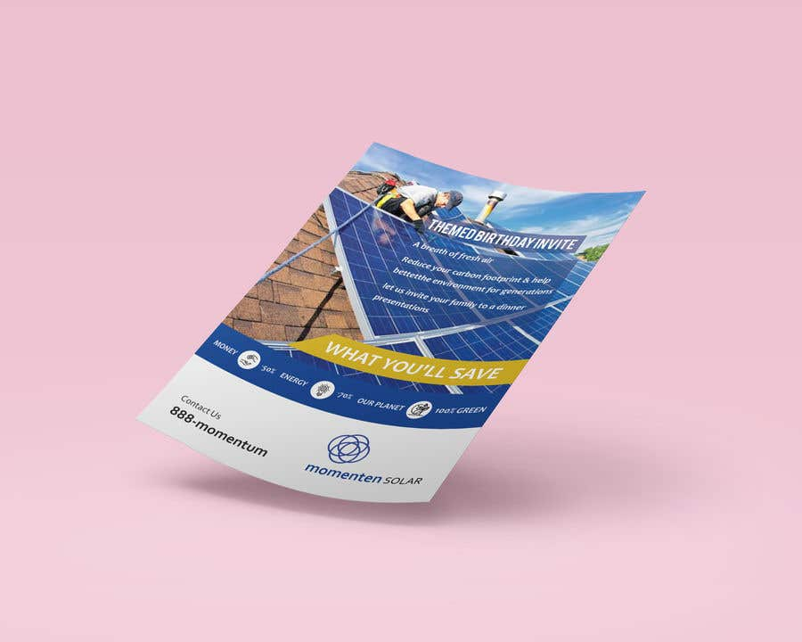 Proposition n°31 du concours Create a Leave-behind/Dinner Invitation for potential solar customers