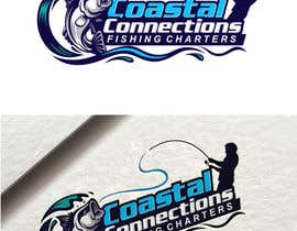 #11 para Coastal Connections Fishing Charters - New Custom Logo Contest por fourtunedesign