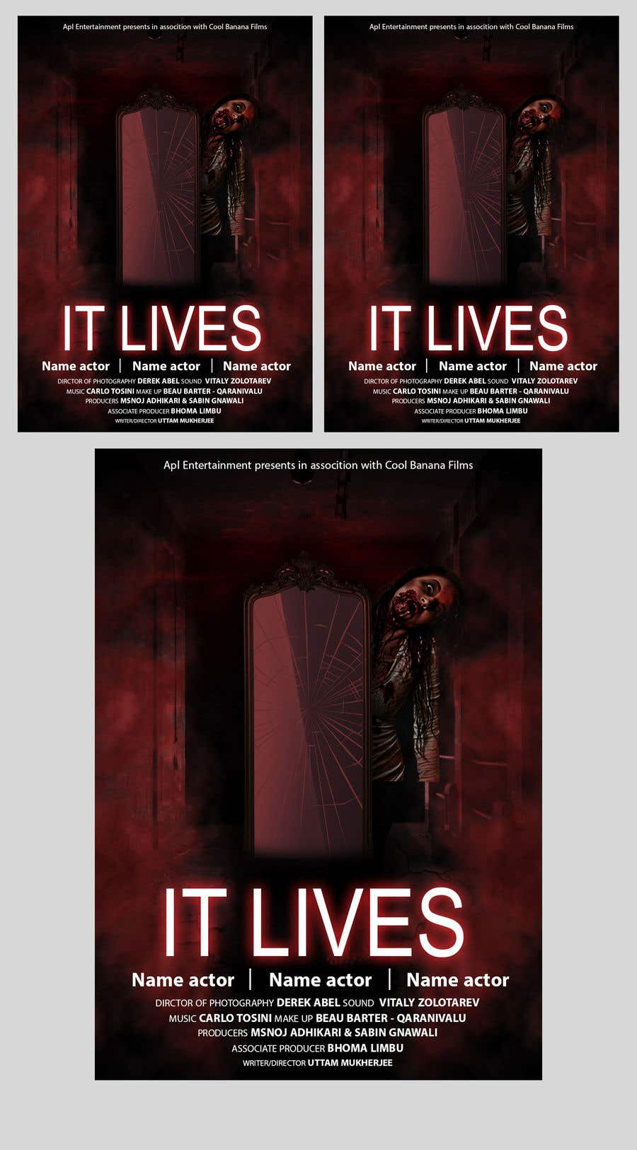 Entry 5 By Goldendesigner7 For Scary Movie Poster Design Contest Freelancer