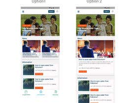 #31 for Re-design the middle to lower part of a mobile app main page by virajmayekar