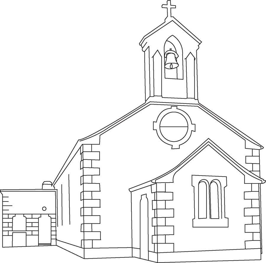 Entri kontes 5 untukdraw an outline of this church in illustrator