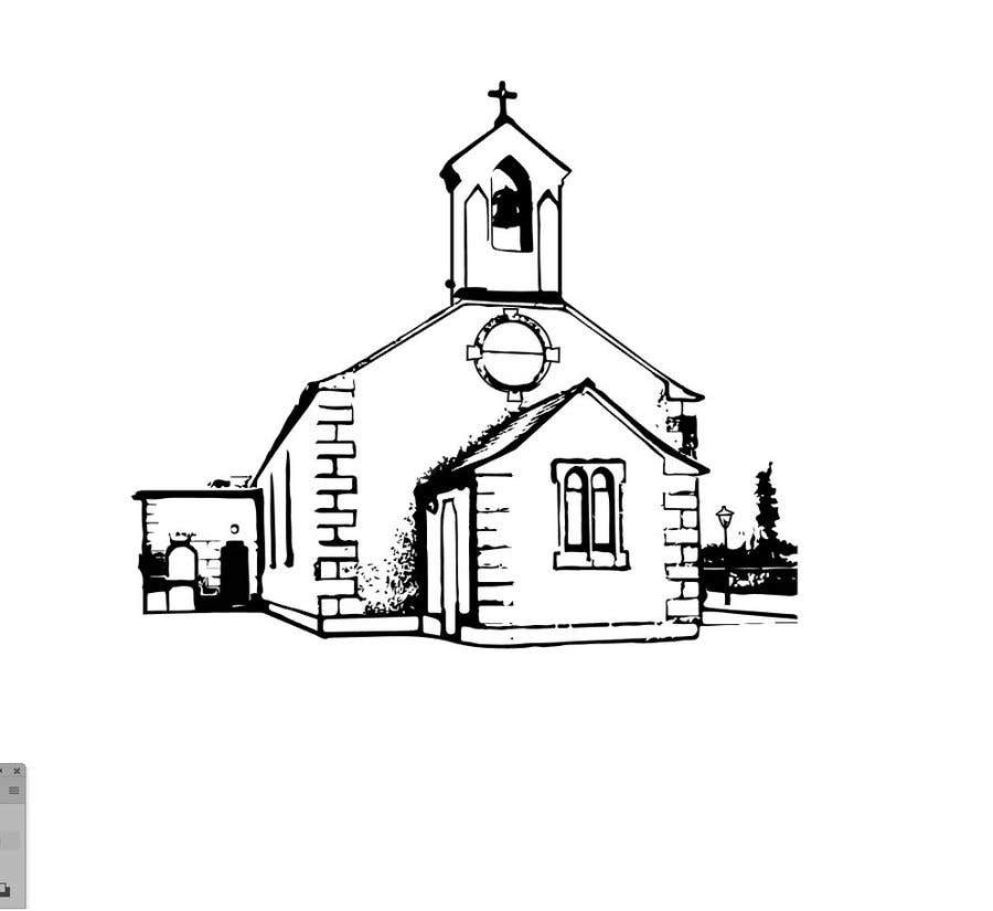 Entry 40 By Dylanteoh For Draw An Outline Of This Church In Illustrator Freelancer