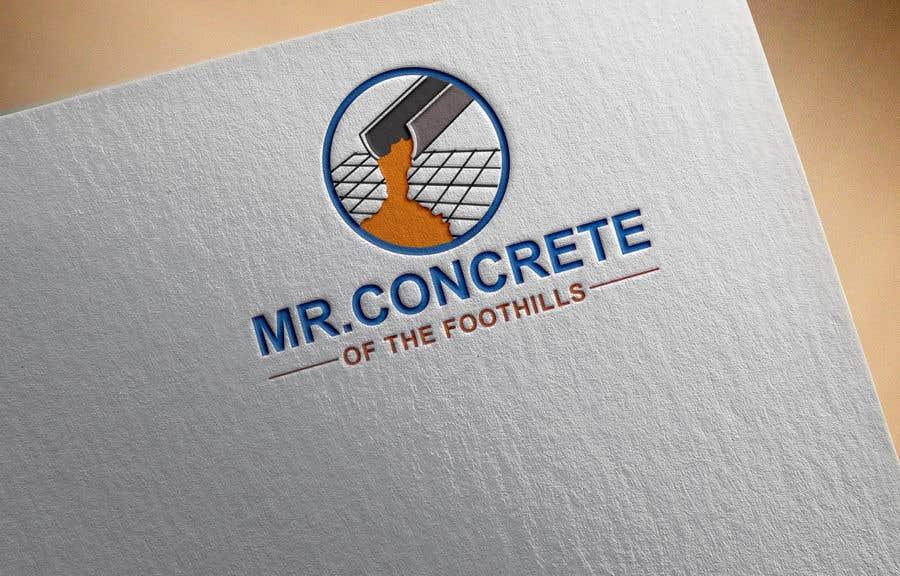 Konkurrenceindlæg #37 for Mr Concrete of the Foothills Logo