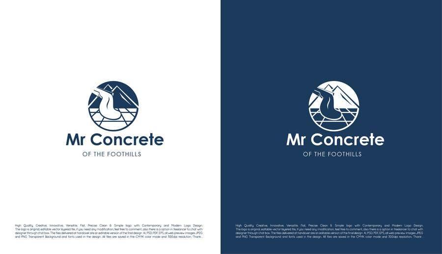 Konkurrenceindlæg #48 for Mr Concrete of the Foothills Logo
