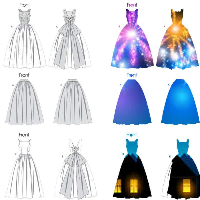Kilpailutyö #27 kilpailussa fashion technical drawing illustrator
