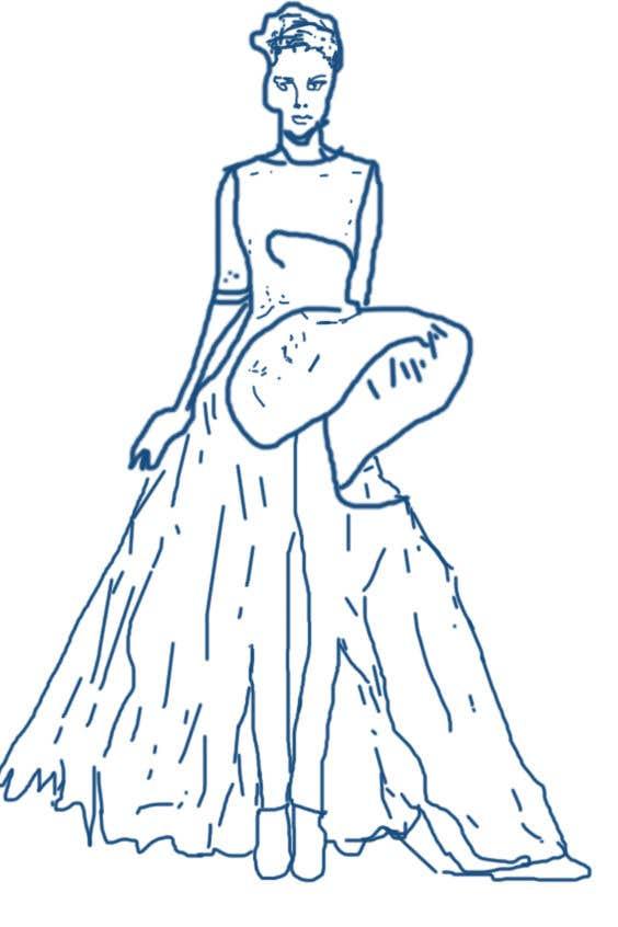 Kilpailutyö #33 kilpailussa fashion technical drawing illustrator