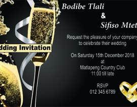 #4 untuk wedding invite oleh pietshabalala01