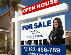 "#53 for Design My Real Estate Agent ""FOR SALE"" Sign by zeetove"