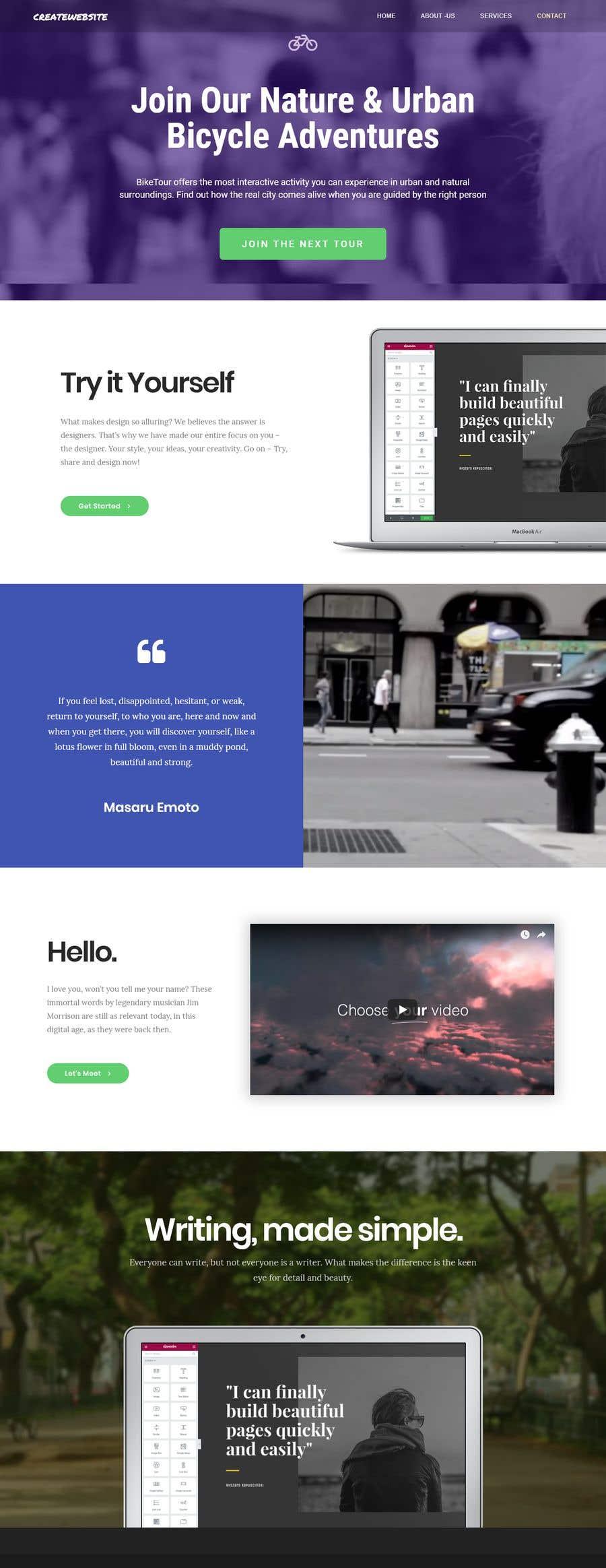 Kilpailutyö #10 kilpailussa Design Homepage