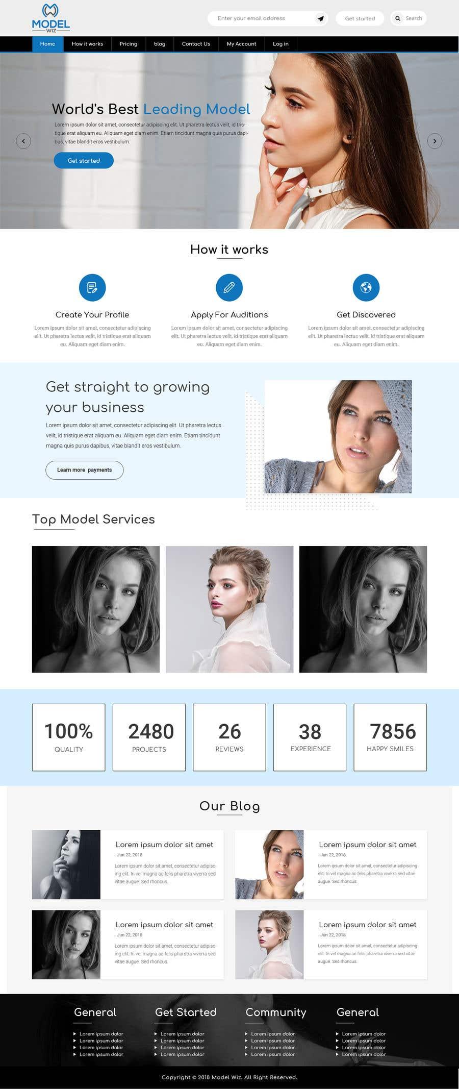 Kilpailutyö #5 kilpailussa Design Homepage