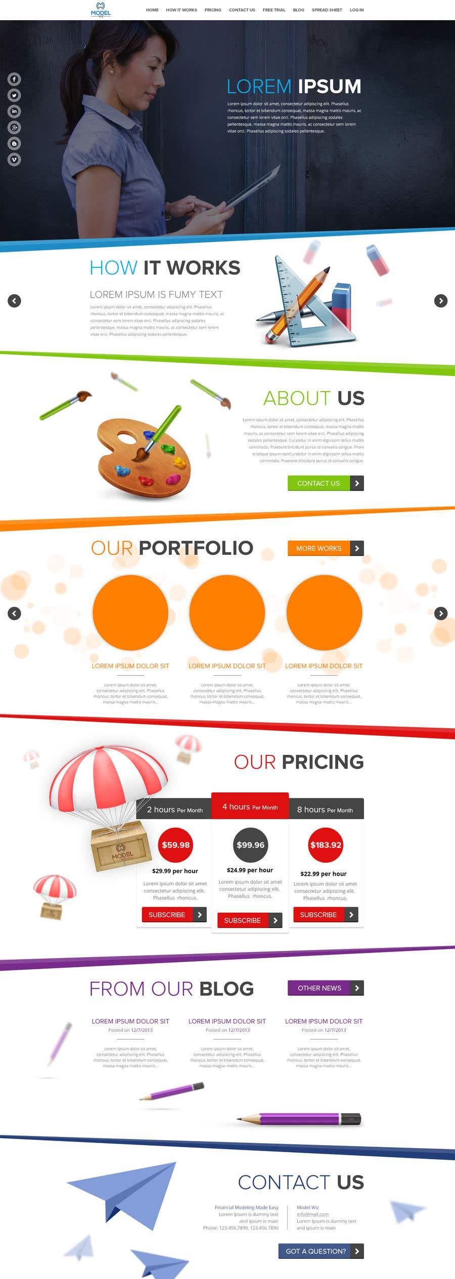 Kilpailutyö #9 kilpailussa Design Homepage