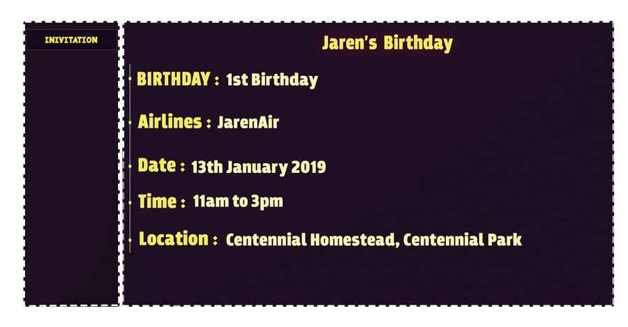 Kilpailutyö #1 kilpailussa I need a Birthday Invitation Done