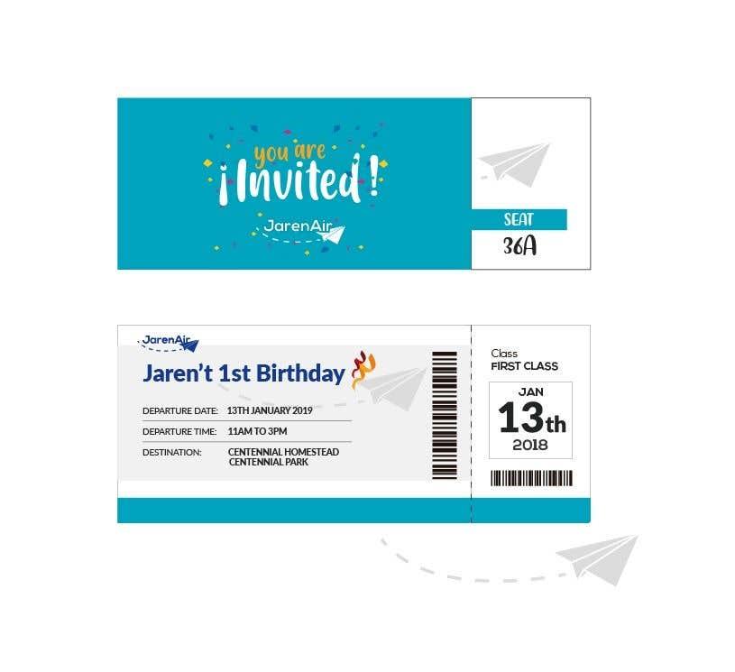 Kilpailutyö #29 kilpailussa I need a Birthday Invitation Done