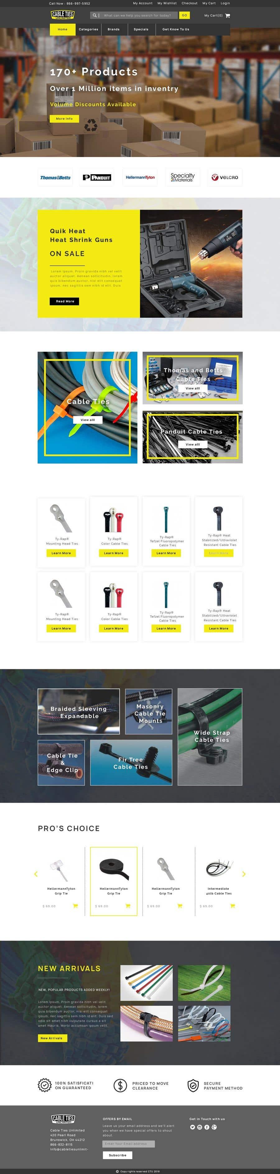 Kilpailutyö #26 kilpailussa Redesign an Ecommerce Website Homepage