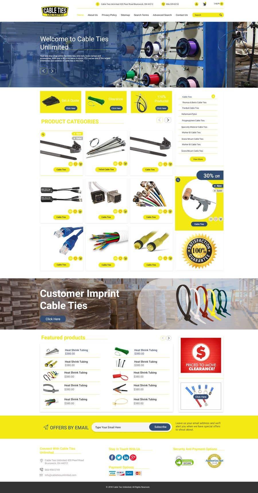 Kilpailutyö #28 kilpailussa Redesign an Ecommerce Website Homepage