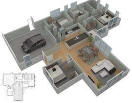 #22 per 3D Render of Floor plan da anto2178