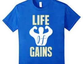 "#4 para Life of Gains is the brand name and I want this wording on the T-shirt ""If I only had a dime I'd still bet on myself"" be creative I don't want just plain text! por nagimuddin01981"