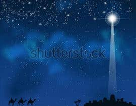 #56 untuk Design cover artwork for original Christmas song - Bethlehem Sky oleh tanveermh