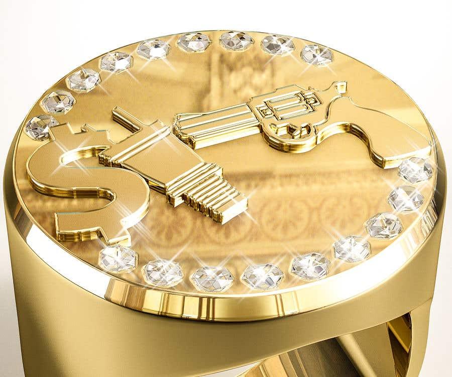 "Kilpailutyö #15 kilpailussa Design a mens ring with my logo ""MONEY, PLUG, GUN"""