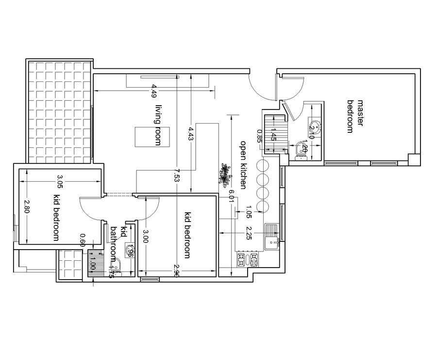 Penyertaan Peraduan #4 untuk interior design