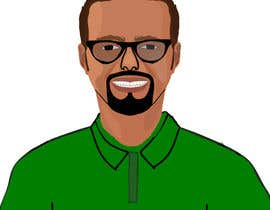 mdsabbir5018 tarafından Make an animated vector illustration of a black male with green polo shirt. için no 29