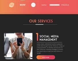 Nro 49 kilpailuun Website Design for Social Media Agency käyttäjältä aindrila1985