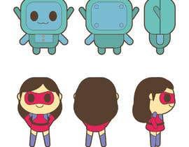 nº 20 pour Kawaii style robots par behilustra