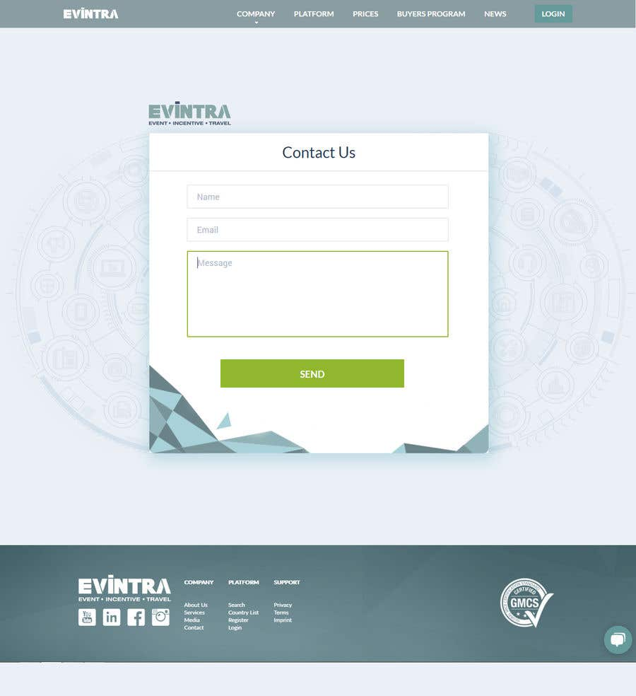 Kilpailutyö #16 kilpailussa Redesign a little test-page - get a full time employment with us!
