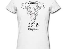 "nº 16 pour A logo for a t-shirt with the outline of a deer face and that says ""Venado Olimpiadas 2018"" par letindorko2"