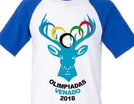 "nº 19 pour A logo for a t-shirt with the outline of a deer face and that says ""Venado Olimpiadas 2018"" par letindorko2"