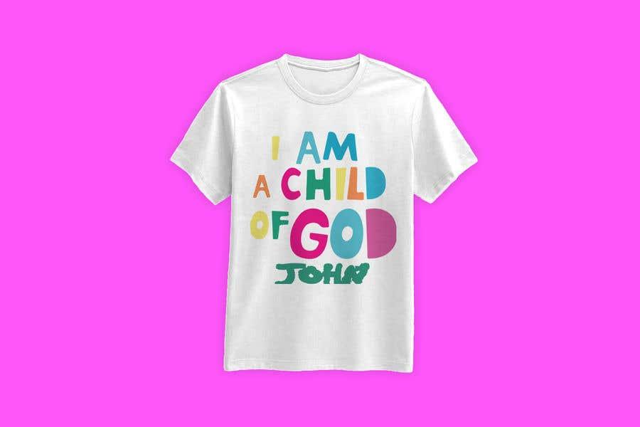 "Penyertaan Peraduan #30 untuk ""I am a Child of God - John 1:12"" - Tshirt Design for Baby, Toddlers, Little Boy and Little Girl"