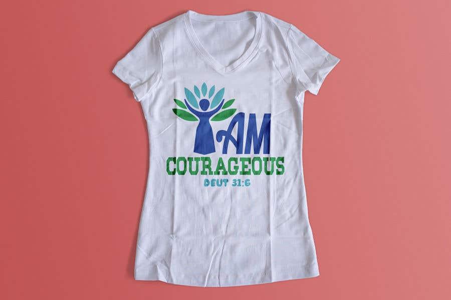 "Konkurrenceindlæg #58 for ""I am Courageous. Deut 31:6"" - GIRLS Tshirt Design"