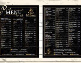 #32 para Menu for a restaurant por andreschacon218