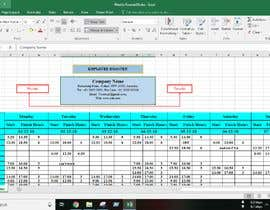 #19 for Excel Automatic Rostering Spreadhseet af Saheen0