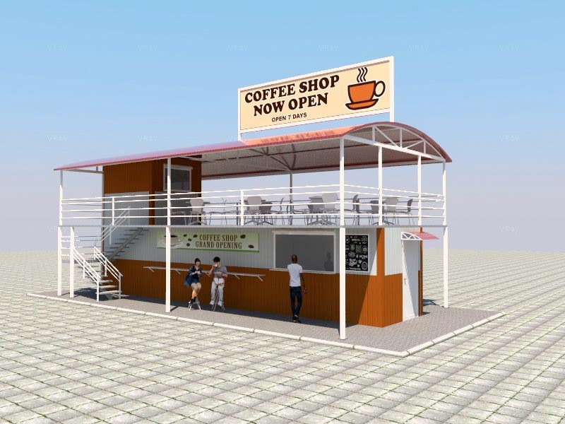 Charming Contest Entry #18 For Exterior Design For A Drive Thru Coffee Shop Building