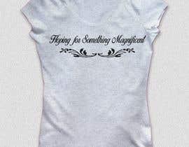 nº 16 pour Feminine Text Base T shirt design using Brush Script Fonts (long term/on going basis) par leonaj121