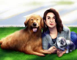 nº 19 pour Draw my friend and her pets!! par felixhadi