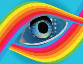 #17 для An image made by an 8 year old. It's a rainbow color eyeball.  I would like someone to  design a vector image of a similar concept of an eyeball with the same colors used in the attachment от humayunsaleem22