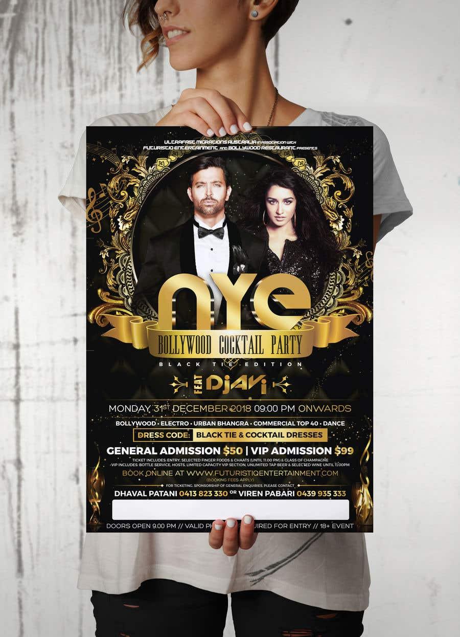 Kilpailutyö #47 kilpailussa NYE Bollywood Cocktail Party (Black Tie Edition)