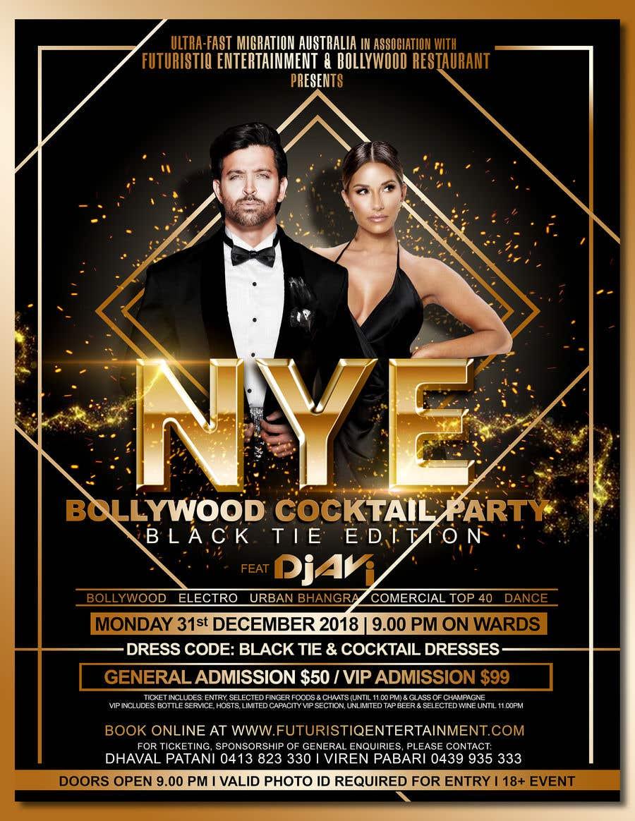Kilpailutyö #58 kilpailussa NYE Bollywood Cocktail Party (Black Tie Edition)