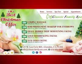 #46 para Design a Christmas seasonal promotional banner ad for a spa por rahatrc