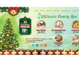 #49 para Design a Christmas seasonal promotional banner ad for a spa por rahatrc