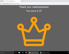 #13 untuk Get the best score in my game oleh Vaishupraveen