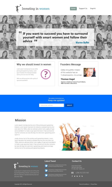 Bài tham dự cuộc thi #                                        16                                      cho                                         2 page website, design & WP programming, investing-in-women.com