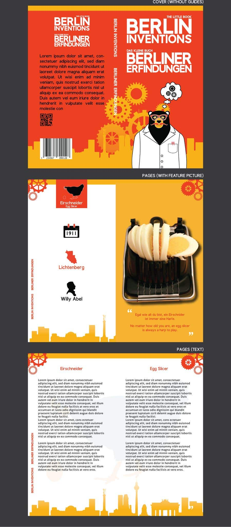 Contest Entry #4 for re Design of a booklet about inventions from the city of Berlin
