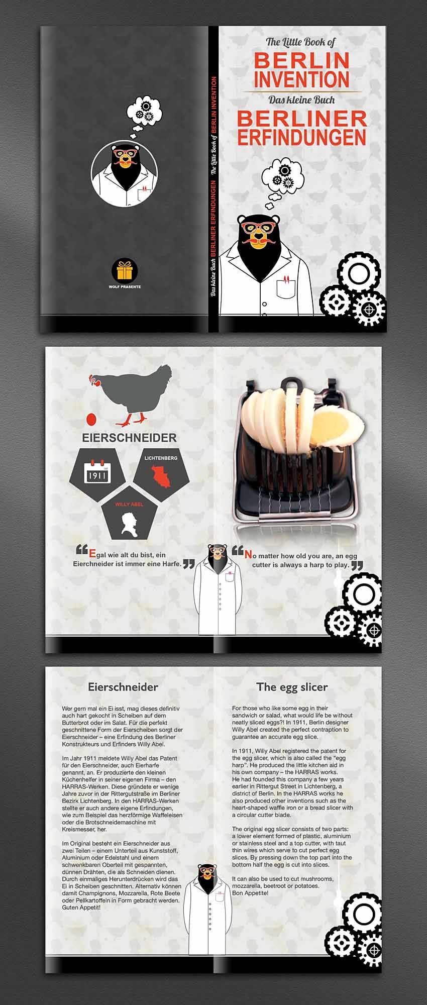 Contest Entry #22 for re Design of a booklet about inventions from the city of Berlin