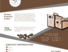 #130 para Brand identity launch flyers for coffee delivery service por mark7425
