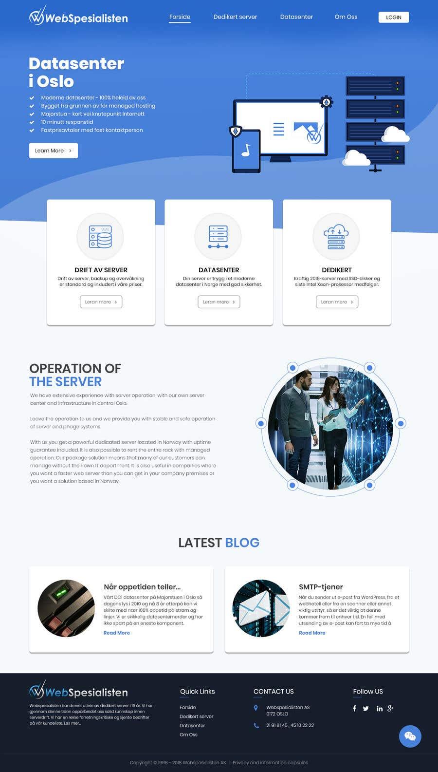 Inscrição nº 112 do Concurso para Design only for hosting company - 2 pages